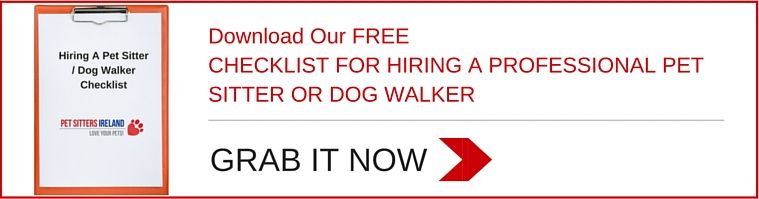 check list for hiring a pet sitter or dog walker pet sitters