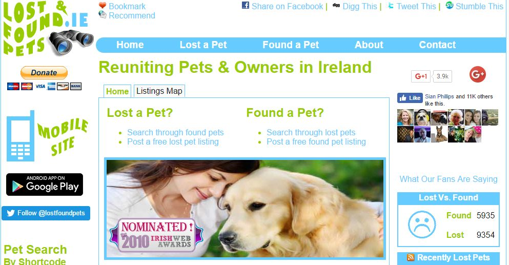 Lost and Found Website